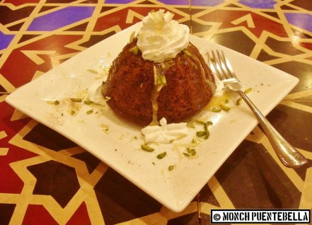 Fig Orange Cake (P174): Dome-shaped cake made from figs and oranges topped with pistachio bits, whipped cream, and condensed milk.