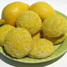 Sparkling Lemon Pillow Cookies- sugar coated pillows of luscious lemony cookie!