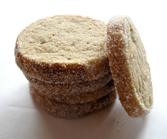 Stack of Cinnamon Brown Sugar Slice-and-Bake Shortbread