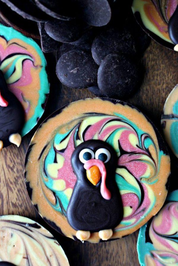 Chocolate Bark Thanksgiving Turkeys