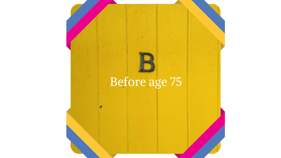 before age 75