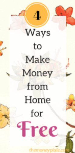 4 ways to make money from home for free the money pixie for Free money to build a house