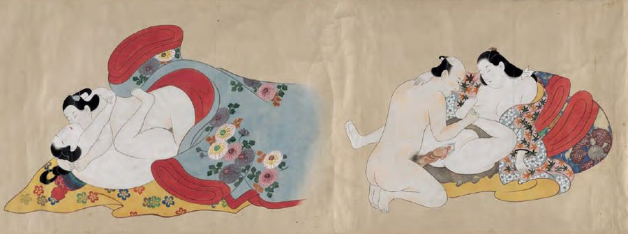 AA_Torii Kiyonobu - Erotic Contest of Flowers - c1710