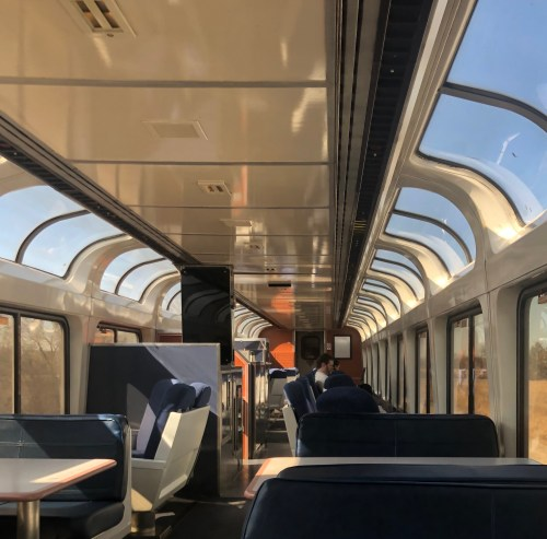 2 People in Observation Car to Milwaukee