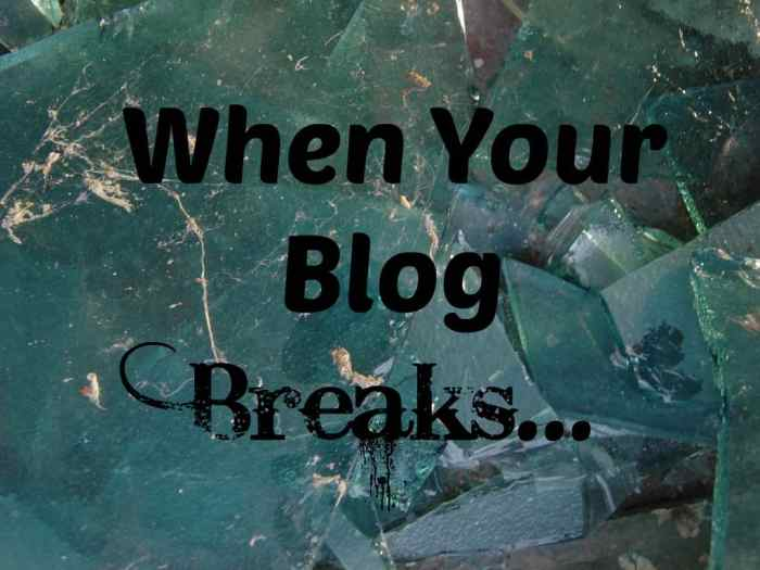 blog, blogging, broken blog, blog breaks