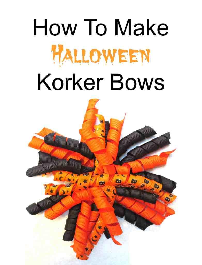 korker bow, hair, diy, halloween