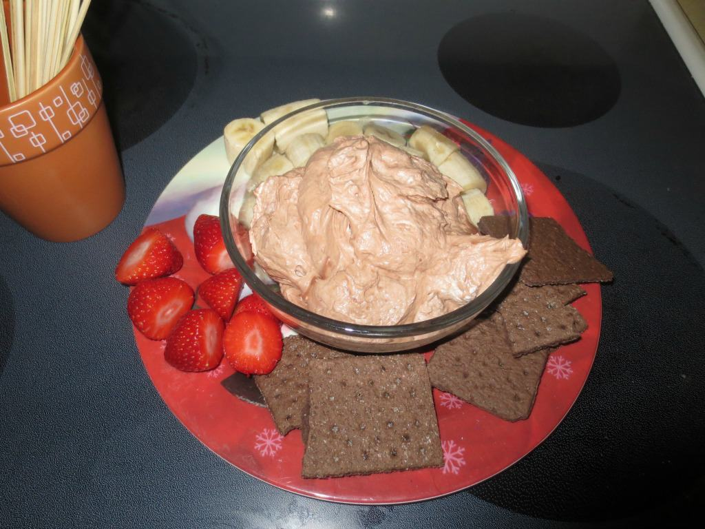 Nutella Dip my daughter made *Note to self - have her make it again!*