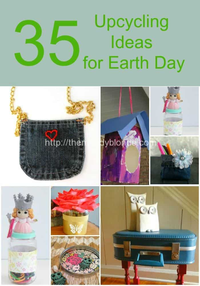 25 Upcycling Projects for Earth Day Blank