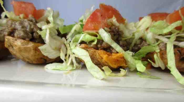 Easy Farm Rich cheeseburger potato skins game day super bowl recipe 2