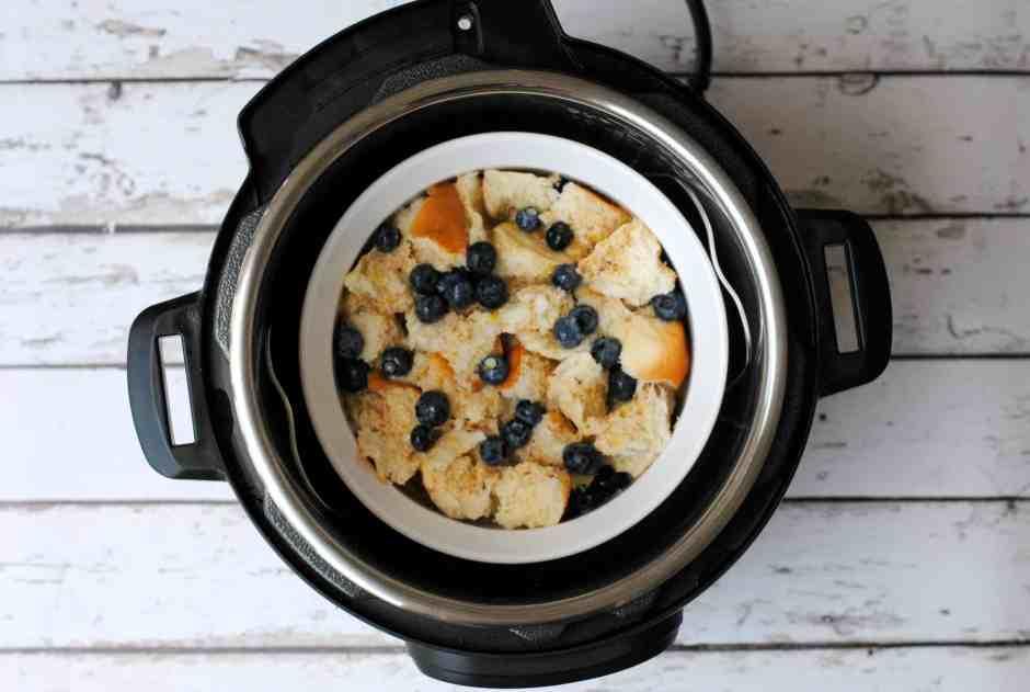 Instant Pot Lemon Blueberry French Toast Casserole