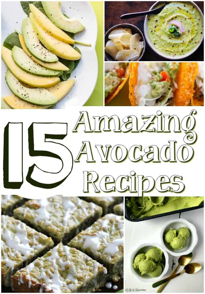 Collage of 15 amazing avocado recipes