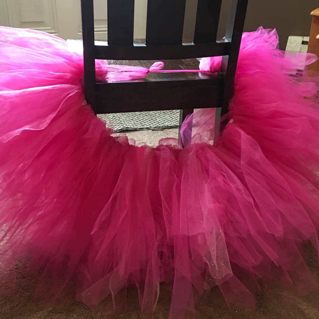 Keep adding tulle until the tutu is as full as you want it to be