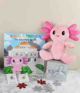 Axol & Friends Plush stuffed animal and book