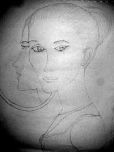 So I tried to draw girls/women.