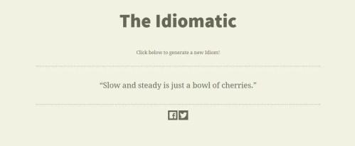 The Idiomatic