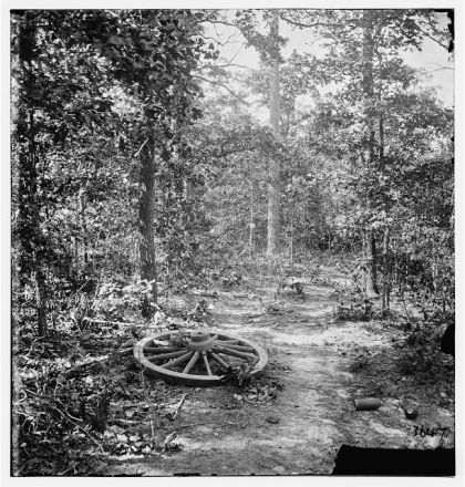 Atlanta, Georgia (vicinity). Woods where Gen. James B. McPherson was killed, July 22, 1864