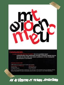 Magazine Ad Design for Computer Market Source Magazine Ad