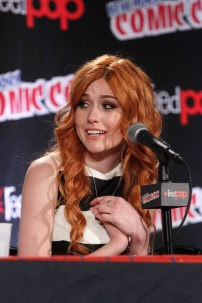 "SHADOWHUNTERS - The cast and creators of ABC Family's ""Shadowhunters"" appear at New York Comic-Con on October 10, 2015 to discuss the new series. ""Shadowhunters"" premieres Tuesday, Jan. 12 at 9 p.m. ET on ABC Family. (ABC Family/Lou Rocco) KATHERINE MCNAMARA"