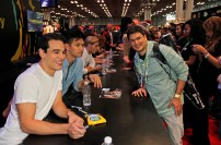 "SHADOWHUNTERS - The cast and creators of ABC Family's ""Shadowhunters"" appear at New York Comic-Con on October 10, 2015 to discuss the new series. ""Shadowhunters"" premieres Tuesday, Jan. 12 at 9 p.m. ET on ABC Family. (ABC Family/Lou Rocco) ALBERTO ROSENDE, HARRY SHUM JR., DOMINICK SHERWOOD, FANS"
