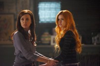 "SHADOWHUNTERS - ""The Mortal Cup"" - One young woman realizes how dark the city can really be when she learns the truth about her past in the series premiere of ""Shadowhunters"" on Tuesday, January 12th at 9:00 - 10:00 PM ET/PT. ABC Family is becoming Freeform in January 2016. Based on the bestselling young adult fantasy book series The Mortal Instruments by Cassandra Clare, ""Shadowhunters"" follows Clary Fray, who finds out on her birthday that she is not who she thinks she is but rather comes from a long line of Shadowhunters - human-angel hybrids who hunt down demons. Now thrown into the world of demon hunting after her mother is kidnapped, Clary must rely on the mysterious Jace and his fellow Shadowhunters Isabelle and Alec to navigate this new dark world. With her best friend Simon in tow, Clary must now live among faeries, warlocks, vampires and werewolves to find answers that could help her find her mother. Nothing is as it seems, including her close family friend Luke who knows more than he is letting on, as well as the enigmatic warlock Magnus Bane who could hold the key to unlocking Clary's past. (ABC Family/John Medland) MAXIM ROY, KATHERINE MCNAMARA"