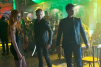 "SHADOWHUNTERS - ""Raising Hell"" - The Shadowhunters will have to put their trust in a Downworlder to access Clary's memories in ""Raising Hell,"" an all-new episode of ""Shadowhunters,"" airing Tuesday, February 2nd at 9:00 – 10:00 p.m., EST/PST on Freeform, the new name for ABC Family. (Freeform/Sven Frenzel) KATHERINE MCNAMARA, DOMINIC SHERWOOD, HARRY SHUM JR."