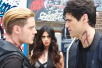"SHADOWHUNTERS - ""Moo Shu To Go"" - Alec finds himself torn between duty and loyalty to Jace in ""Moo Shu to Go,"" an all-new episode of ""Shadowhunters,"" airing Tuesday, February 9th at 9:00 – 10:00 p.m., EST/PST on Freeform, the new name for ABC Family. (Freeform/Sven Frenzel) DOMINIC SHERWOOD, EMERAUDE TOUBIA, MATTHEW DADDARIO"