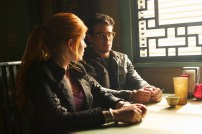 "SHADOWHUNTERS - ""Moo Shu To Go"" - Alec finds himself torn between duty and loyalty to Jace in ""Moo Shu to Go,"" an all-new episode of ""Shadowhunters,"" airing Tuesday, February 9th at 9:00 – 10:00 p.m., EST/PST on Freeform, the new name for ABC Family. (Freeform/Sven Frenzel) KATHERINE MCNAMARA, ALBERTO ROSENDE"