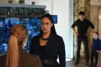"""SHADOWHUNTERS - """"Bad Blood"""" - Alec and Clary are forced to make some hard decisions in """"Bad Blood,"""" an all-new episode of """"Shadowhunters,"""" airing Tuesday, March 1st at 9:00 – 10:00 p.m., EST/PST on Freeform, the new name for ABC Family. (Freeform/John Medland) STEPHANIE BENNETT, NICOLA CORREIA-DAMUDE, MATTHEW DADDARIO, JACK FULTON"""