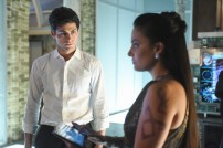 """SHADOW HUNTERS - """"Morning Star"""" - Time is running out for the Shadowhunters to stop Valentine in """"Morning Star,"""" the season finale of """"Shadowhunters,"""" airing TUESDAY, APRIL 5 (9:00 - 10:00 p.m. EDT) on Freeform. (Freeform/John Medland) MATTHEW DADDARIO, NICOLA CORREIA DAMUDE"""