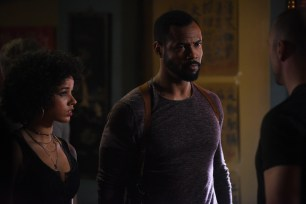 """SHADOWHUNTERS - """"Mea Maxima Culpa"""" - Everyone is dealing with the aftermath of the Soul Sword attack at the Institute in ÒMea Maxima Culpa,Ó the summer premiere of ÒShadowhunters,Ó airing MONDAY, JUNE 5 (8:00 - 9:00 PM EDT) on Freeform and on the Freeform app. (Freeform/John Medland) ALISHA WAINWRIGHT, ISAIAH MUSTAFA"""