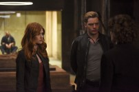 """SHADOWHUNTERS - """"Mea Maxima Culpa"""" - Everyone is dealing with the aftermath of the Soul Sword attack at the Institute in ÒMea Maxima Culpa,Ó the summer premiere of ÒShadowhunters,Ó airing MONDAY, JUNE 5 (8:00 - 9:00 PM EDT) on Freeform and on the Freeform app. (Freeform/John Medland) KATHERINE MCNAMARA, DOMINIC SHERWOOD"""