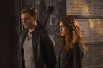 """SHADOWHUNTERS - """"Mea Maxima Culpa"""" - Everyone is dealing with the aftermath of the Soul Sword attack at the Institute in ÒMea Maxima Culpa,Ó the summer premiere of ÒShadowhunters,Ó airing MONDAY, JUNE 5 (8:00 - 9:00 PM EDT) on Freeform and on the Freeform app. (Freeform/John Medland) DOMINIC SHERWOOD, KATHERINE MCNAMARA"""