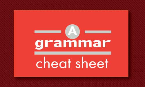 A grammar cheat sheet