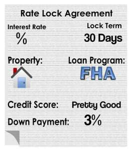 Rate Lock Agreement