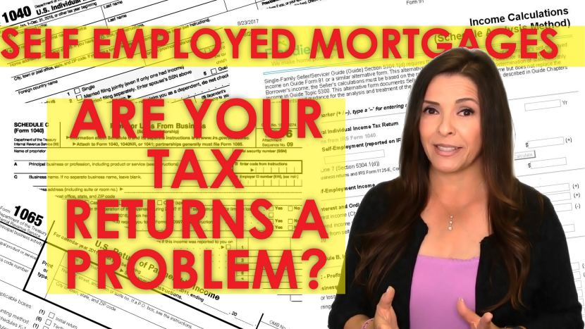 Self employed person qualifying for a mortgage