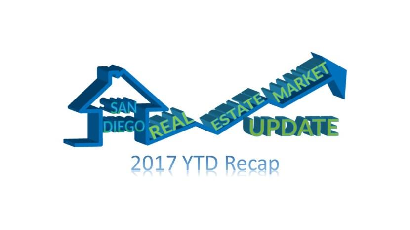 San Diego Real Estate Market 2017 YTD Recap