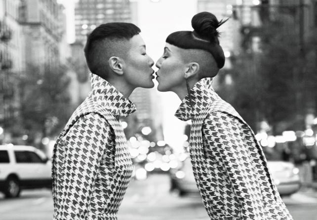 Jenny Shimizu + Michelle Harper looking cute for & Other