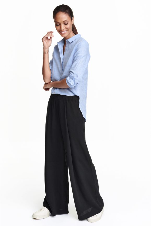 Wide Leg Elasticated Waist Trousers £14.99