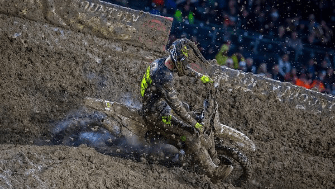 ROCKSTAR ENERGY HUSQVARNA FACTORY RACING'S MICHAEL MOSIMAN BATTLES THROUGH ADVERSE CONDITIONS AT SAN DIEGO SX