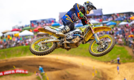 TOUGH FIGHT FOR JGRMX YOSHIMURA SUZUKI AT HIGH POINT MX