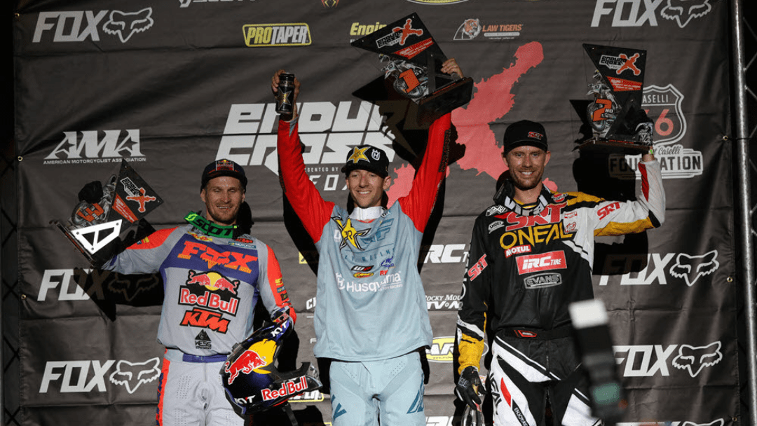 Haaker Wins Prescott Valley EnduroCross Opener –   Graffunder and Blazusiak round out podium