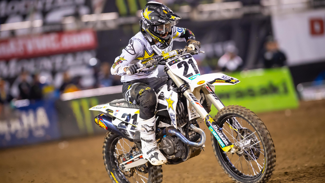 TOP FIVE FINISH FOR JASON ANDERSON AT THE OAKLAND SX