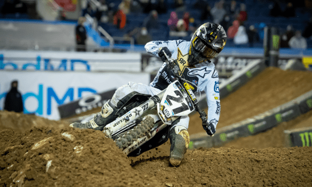 ROCKSTAR ENERGY HUSQVARNA FACTORY RACING'S JASON ANDERSON FINISHES INSIDE THE TOP-FIVE AT AMA SUPERCROSS RD 8