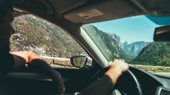sports car driving