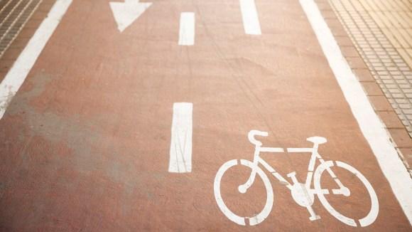 city cycling lane logo