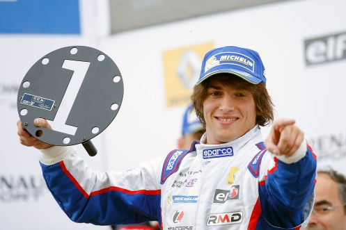 Merhi took 3 wins on his return to single-seaters. © Jean Michel Le Meur / DPPI / Renault Sport Media.