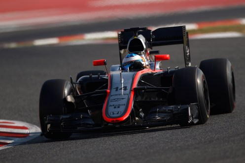 Alonso's Barcelona test ended with a crash. © McLaren-Honda F1 team / Sam Bloxham/LAT Photographic.
