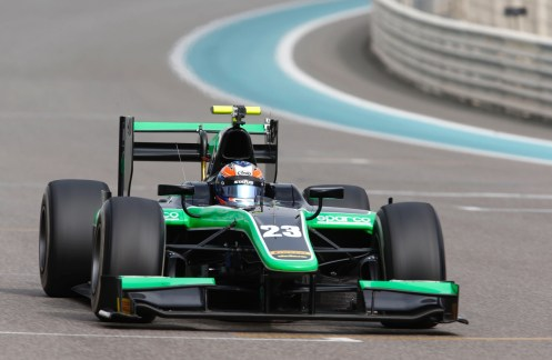 Stanaway was quickest over the three days in Abu Dhabi. © GP2 Series Media Services
