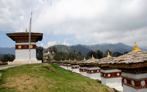 The perfect peaceful setting with magnificent sights of Himalayas atop the Dochula Pass; Photo: Kaushik Naik