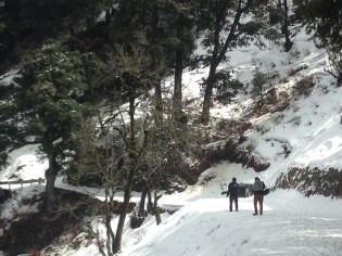 Snow-bound on the road to Hatu Peak